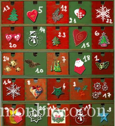 Do it yourself calendrier de l 39 avent colo en bois mon bio cocon - Remplir calendrier de l avent ...