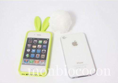 coque-Iphone-4-lapin-vert-0