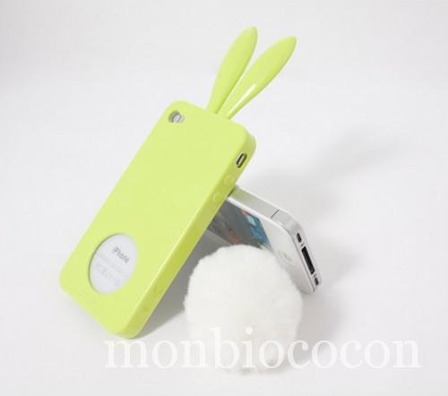 coque-Iphone-4-lapin-vert