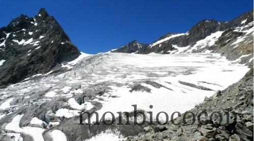 le glacier blanc massif des écrins alpes