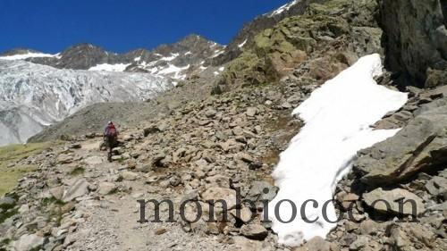 randonnée au glacier blanc alpes