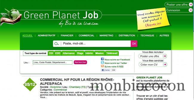 Moi aussi je veux un green job un travail bio vert for Je veux creer mon entreprise mais dans quoi