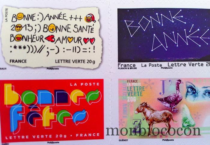 timbres-la-poste-bonne-année-2012-fêtes
