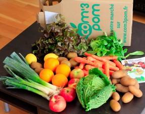 J'ai testé le panier de légumes BIO de chez COM 3 POM, livré à domicile, voici mon avis