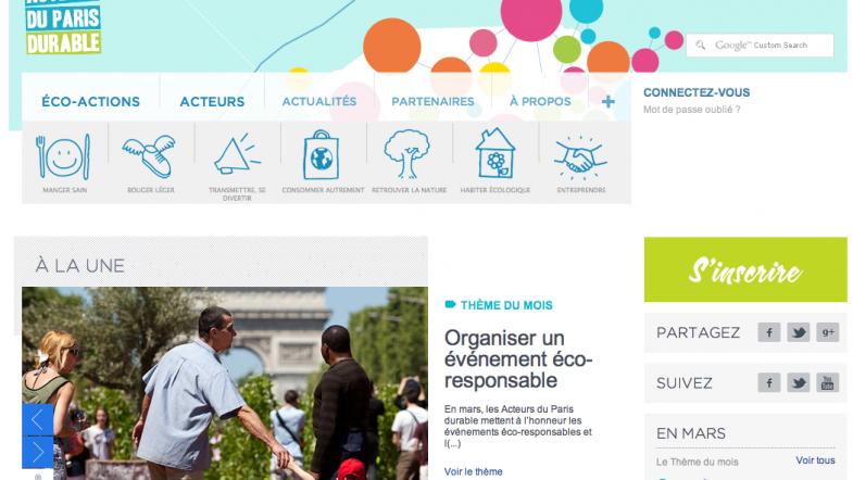 Acteurs du Paris Durable, en avant pour l'environnement !