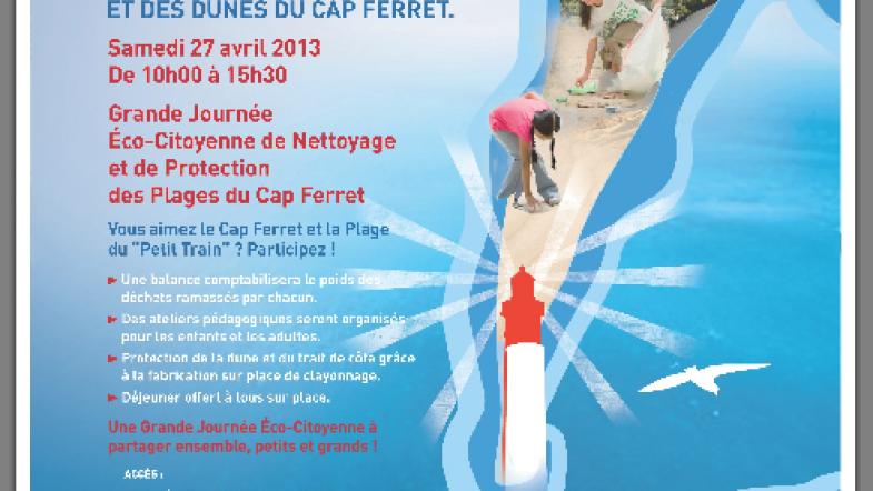 Journée éco-citoyenne de nettoyage des plages du Cap Ferret