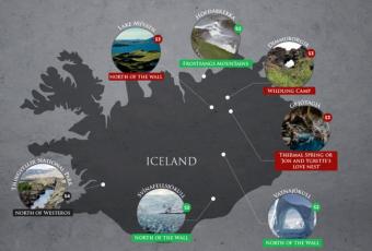 Lieux de tournage de Games of Thrones en ISLANDE