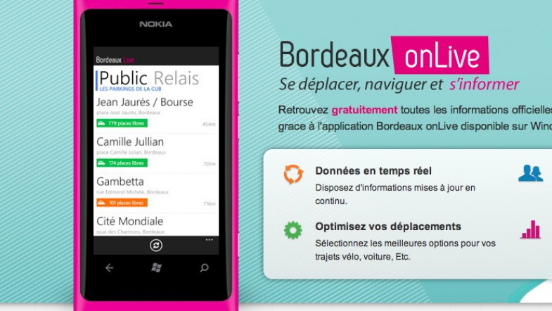 Bordeaux on live, la nouvelle appli pour Bordelais sur Windows Phone 7