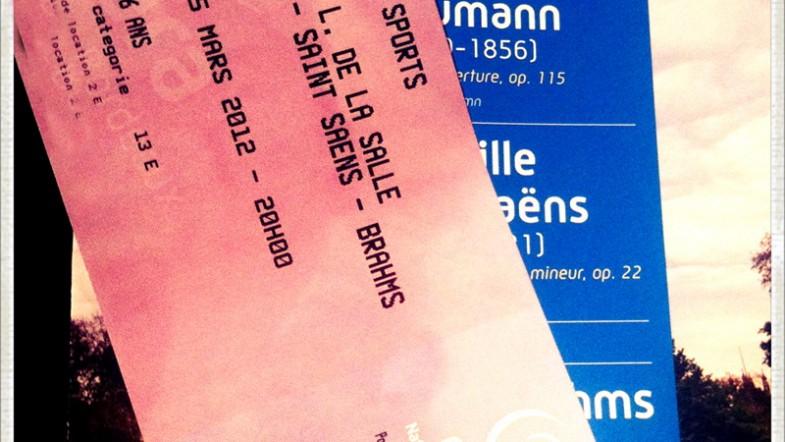 Hier soir c'était concert de musique classique au Palais des Sports: Schumann, Brahms, Saint Saens