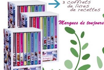 """A GAGNER : 3 coffrets de livres de recettes Larousse """"Marques de Toujours"""""""