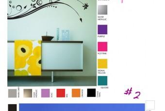 A GAGNER sur le blog : 2 stickers muraux personalisables ! Coeurs fleuris et oiseaux…