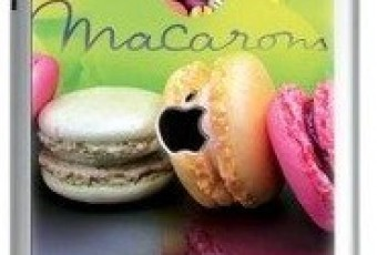 Coup de coeur pour les coques Iphone et Ipad macarons vertes et violettes, miam miam !