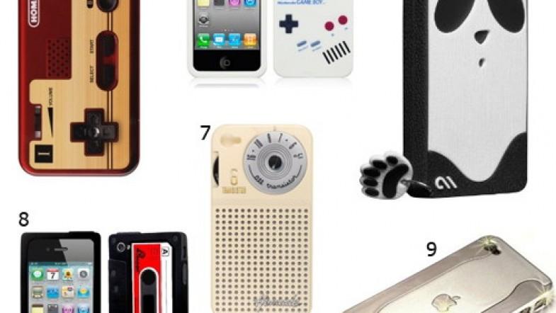 Coques et étuis Iphone 4: lapin, panda, K7 audio, cubes, ligot, game boy et compagnie