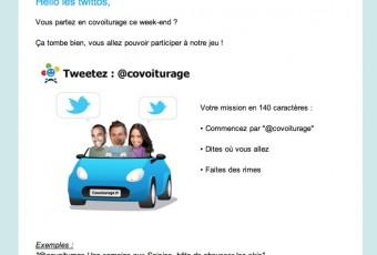 Jouons sur covoiturage.fr ce weekend, je twitte ou tu twittes? Twittons pour covoiturer alors !
