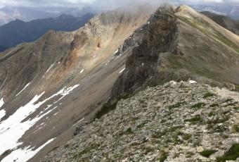 #5 Les Alpes: randonnée sur la crête de Peyrolle, à flanc et par vent