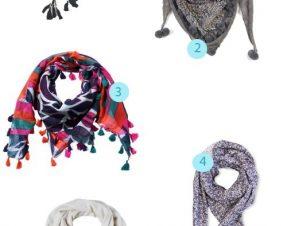 Jolis foulards à pompons pour un hiver tout beau (et chaud)