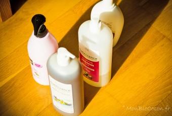 Gel douche & shampoo par litre = plus écologique