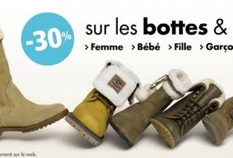 Réduction: -30% sur les bottes et boots chez Gémo