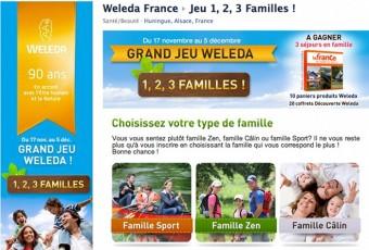 Jeu concours Weleda: 1, 2, 3 familles ! Partez ! Youou…
