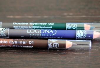 LOGONA crayon yeux Double Eyeliner bleu, vert et marron: test et avis de maquillage bio