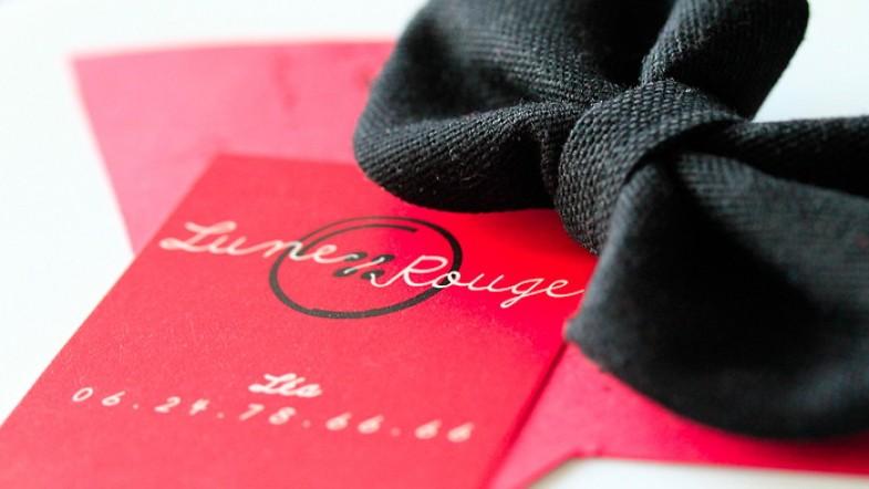 J'ai gagné un concours chez La Ptite Bulle d'Elo, mon lot? un zoli noeud signé Lune Rouge