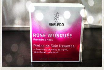 Test des perles à la rose musquée by Weleda sur ma beautiful peau
