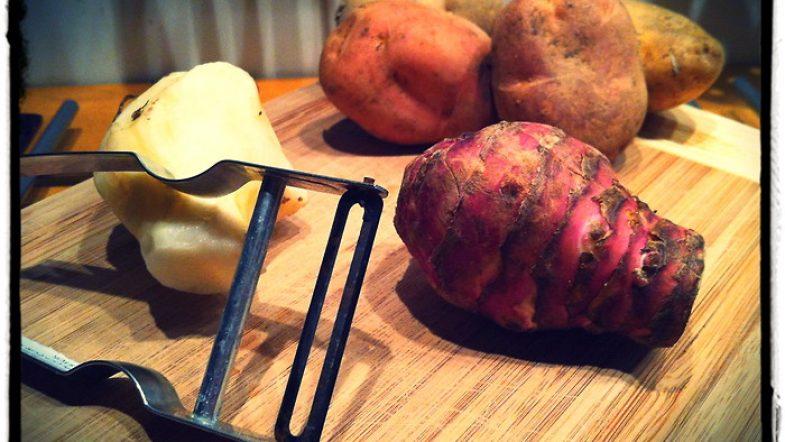 Recette: poêlée de topinambour et pomme de terre bio
