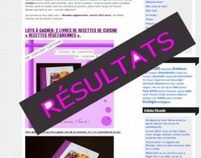 Résultats du Jeu Concours Larousse pour gagner 3 livres de recettes végé, qui a gagné?