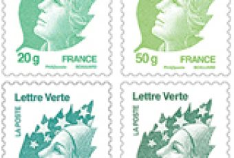 Les timbres verts de La Poste prennent le bateau